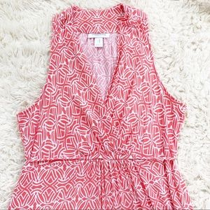 MOTHERHOOD MATERNITY Coral Pink Geo Maxi Dress